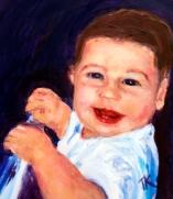 Baby A, 2014. (Acrylic, 5 x 5)