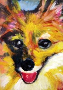 Lassie, Acrylic, 5 x 7, 2014.