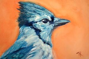 Blue Jay, 2014. (Oil, 4 x 6)