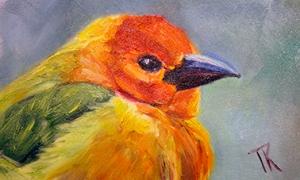 Golden Weaver, 2014. (Oil, 4 x 6)