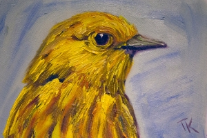 Yellow Warbler, 2014. (Oil, 4 x 6)